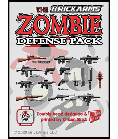 BrickArms Zombie Defense Pack 2020 wapen set voor LEGO Minifigures