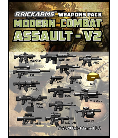 Brickarms Modern Combat Pack - Assault Pack v2 wapen set voor LEGO Minifigures
