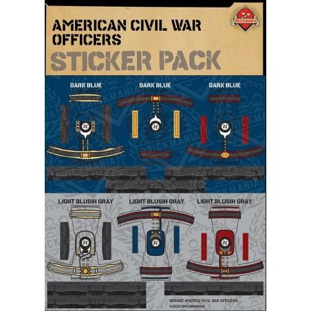 Civil War Officers - Sticker Pack