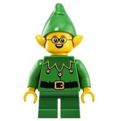 Weihnachtself mit Glocken - Brille