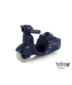 Scooter - Dark Blue - Stars print