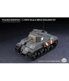 M4A3E8 Sherman - 1/48th Scale Brick Building Kit