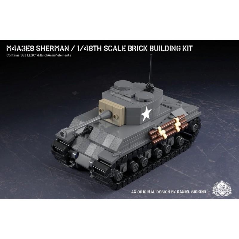 M4A3E8 Sherman - Bausteinbausatz im Maßstab 1:48