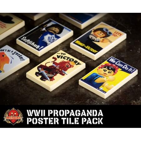 WWII Propaganda Poster tegel set