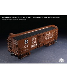 USRA 40' Rebuilt Steel Boxcar - 1/48th Scale Brick Railroad Kit