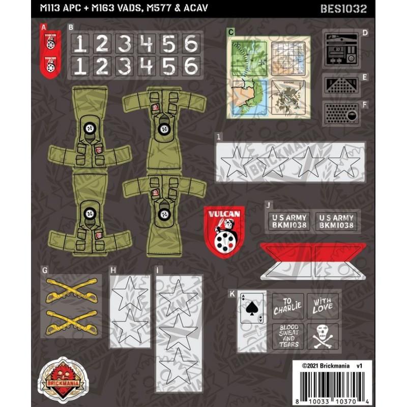 M113 APC + M163 VADS, M577 & ACAV - Sticker Pack