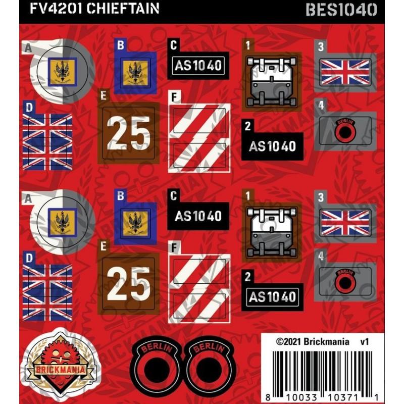 FV4201 Chieftain (BKE1040) - Sticker Pack