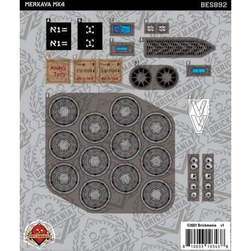 Merkava MK4 - Sticker Pack