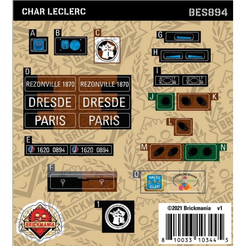 Char Leclerc - Sticker Pack