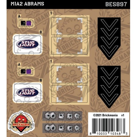 M1A2 Abrams - Sticker Pack