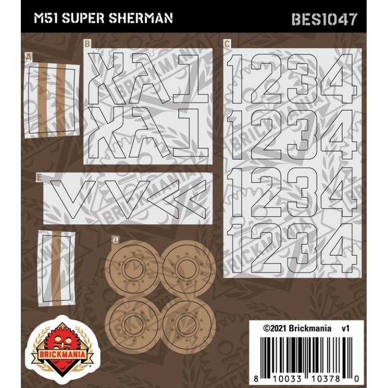 M51 Super Sherman - Sticker Pack