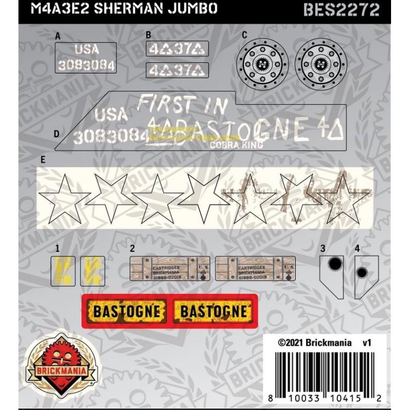 M4A3E2 Sherman Jumbo- Sticker Pack