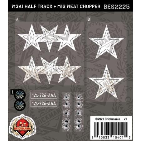 M3A1 Half Track + M16 Meat Chopper - Sticker Pack
