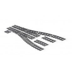 BrickTracks - Short Straight Rails Pack