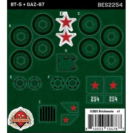 BT-5 & GAZ-67 - Sticker Pack