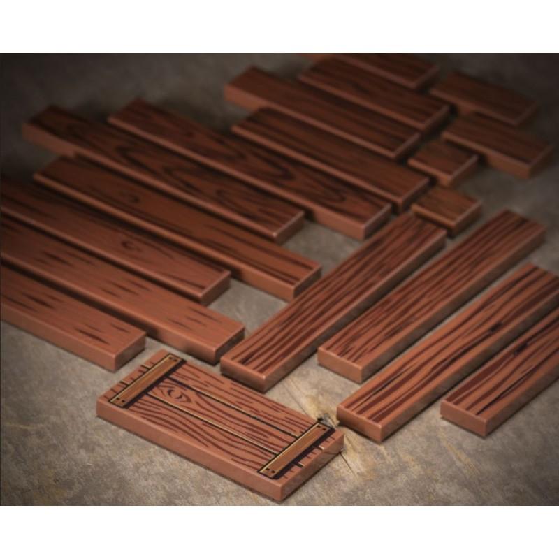 Holzmaserung Fliesen Set