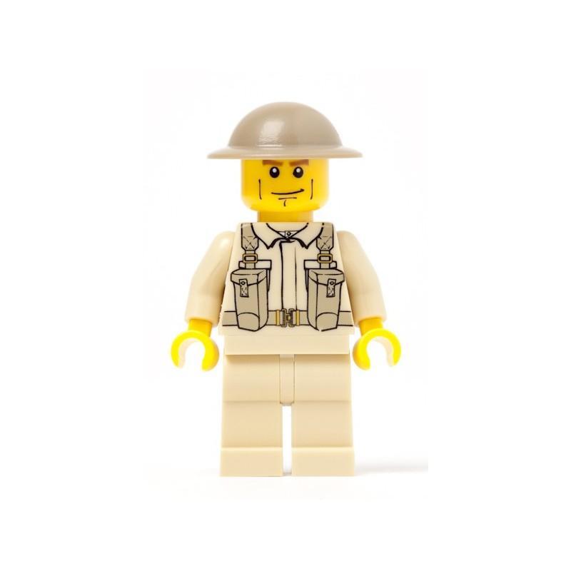 Britische Armee Infanterie Soldat mit Rucksack