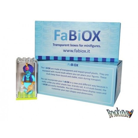 8x 4x4 FaBiOX Minifiguren Display Box