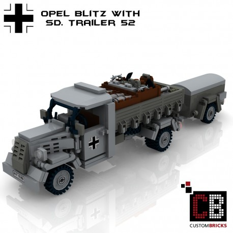 Opel Blitz with SD Anhänger 52 - Bouwinstructies