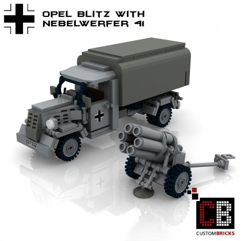 Opel Blitz met Nebelwerfer 41 - Bouwinstructies