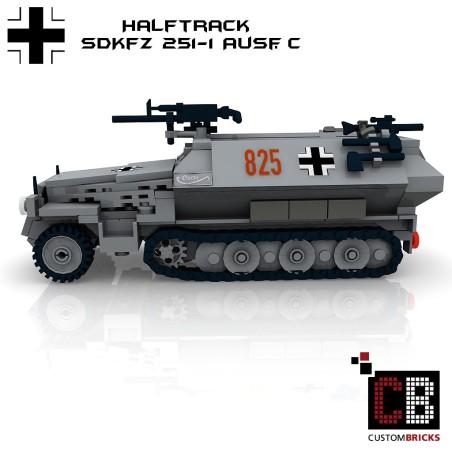 SdKfz 251-1 Ausf.C armored tank - Bouwinstructies