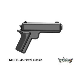American - M1911 .45 Pistol- Classic Color-Black