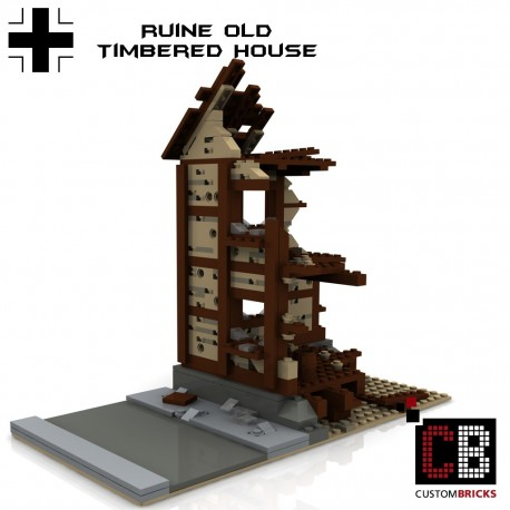 Ruins of German half-timbered house - Building instructions