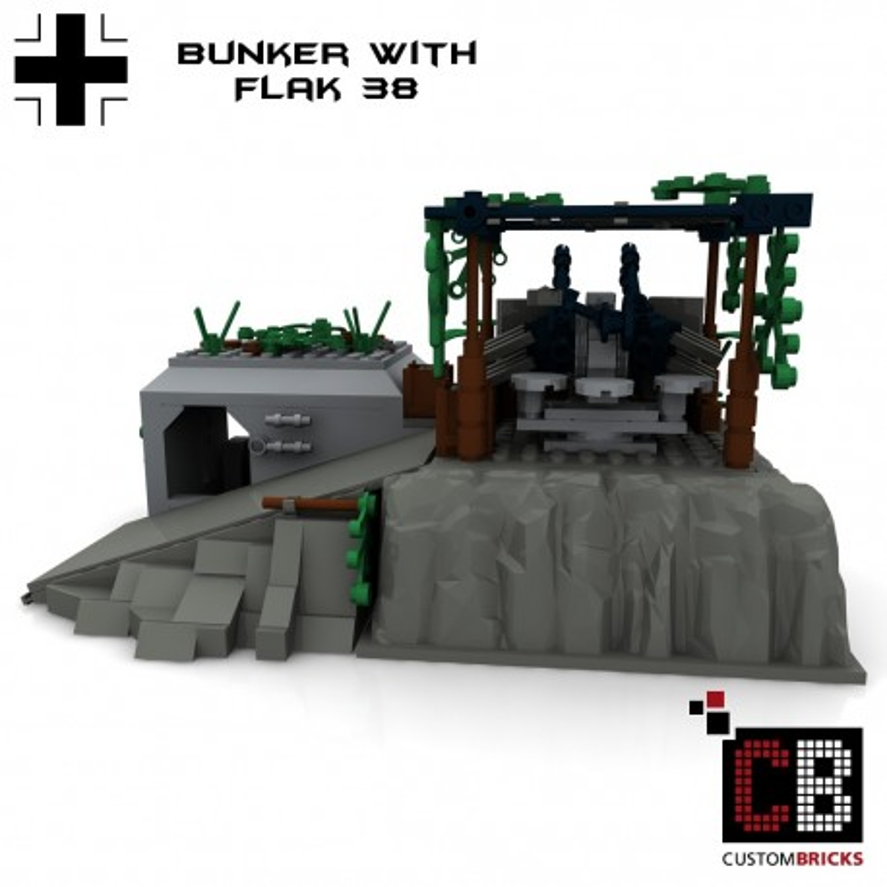 Duitse bunker met Flak38 - Bouwinstructies