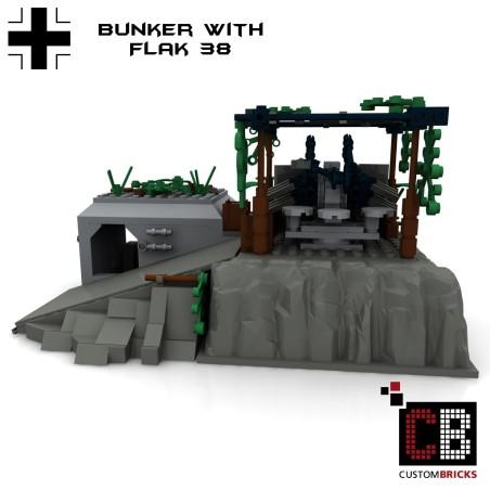 Deutsche Bunker mit Flak 38 - Bauanleitung
