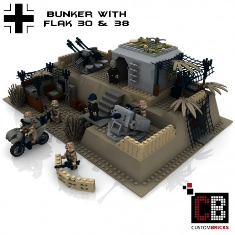 German bunker with Flak 30 & Flak 38 - Building instructions