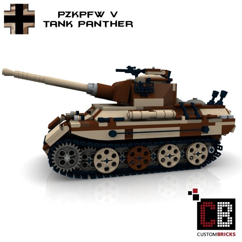 Panzer PzKpfw V Panther - Camo - Bouwinstructies