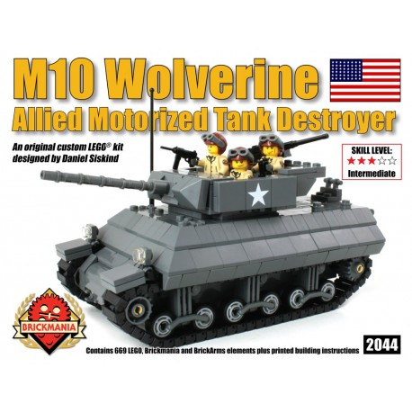 M10 Wolverine Allied Motorized Tank Destroyer - Premium Custom LEGO® Kit