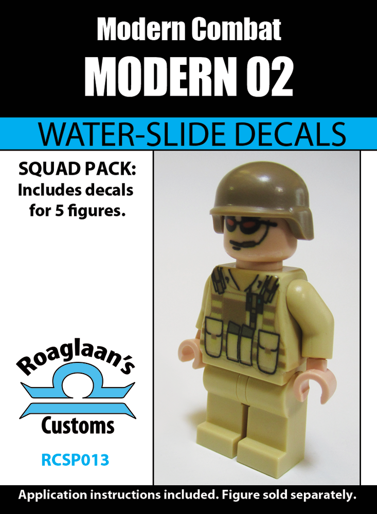 Brickarms Modern Comabat Helmet for Lego Minifigures 5 Pack Tan
