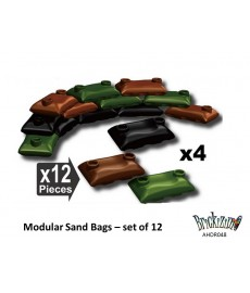 Modular Sand Bags – 4 Black, 4 Brown and 4 Green