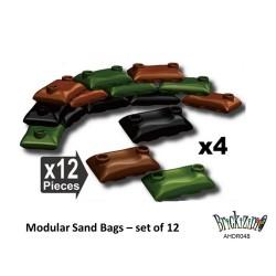 Modulare Sandsäcke - 4 Schwarz, 4 Braun und 4 Grün