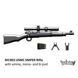 M1903 USMC Sniper met ammo, mono- en bi pod