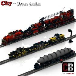 Trein, Kraan en Wagon - Bouwinstructies