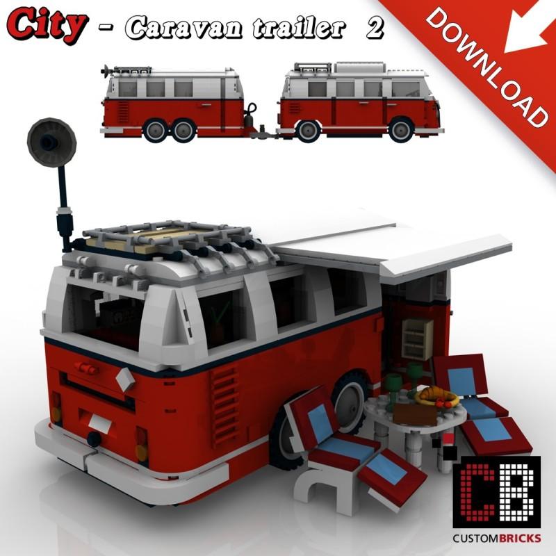T1 Bus - Caravan 2-axle - Building instructions