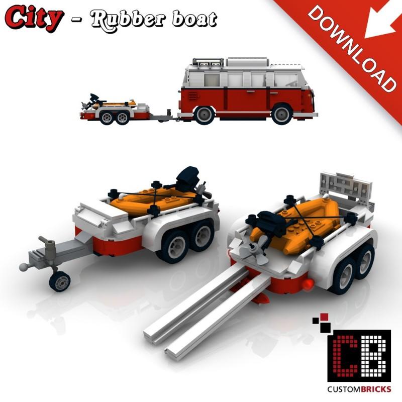 Anhänger mit Schlauchboot - Bauanleitung