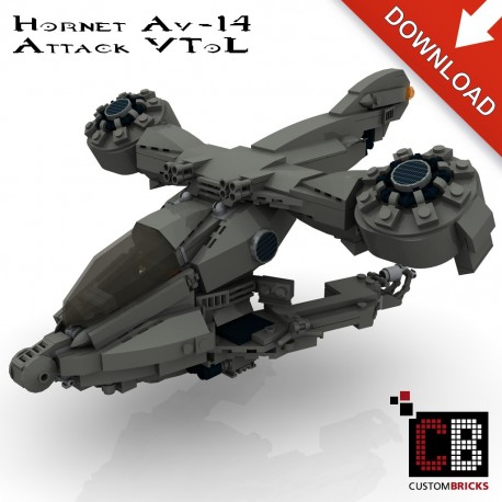 UNCS AV-14 Hornet Attack VTOL - Building instructions