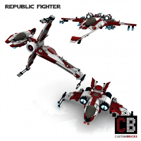 Star Wars Republic Fighter - Bouwinstructies