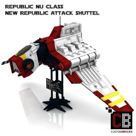 Star Wars Nu Republic Attack Shuttle - Bouwinstructies