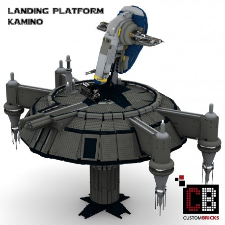 Star Wars UCS Slave I + Kamino Landing platform - Building instructions