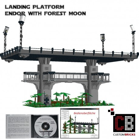 Star Wars ENDOR Landing platform with Trees - Building instructions