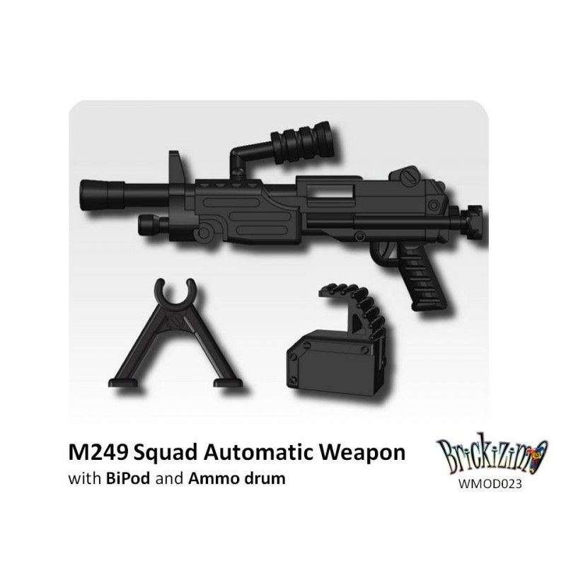 Aug Custom Weapons shotgun pack M249 Para more to fit LEGO® Mini Figures