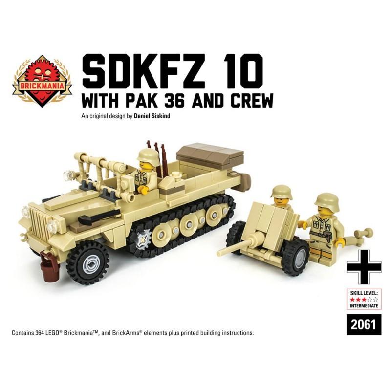 SdKfz 10 mit Pak 36 und Mannschaft