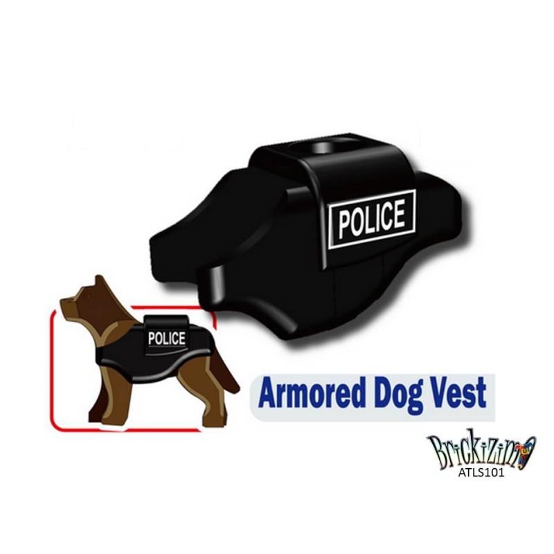 K9 Gepanzerte Hundeweste - Police print