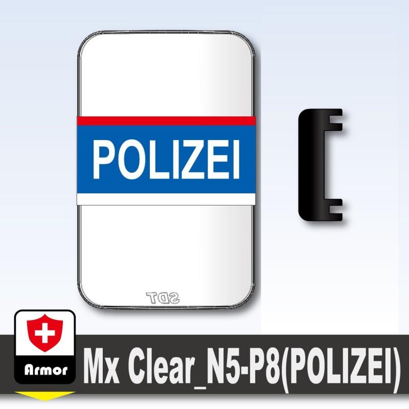 Polizei Kugelsicheres Schild - Blau