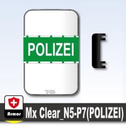 Polizei Kugelsicheres Schild - Grun