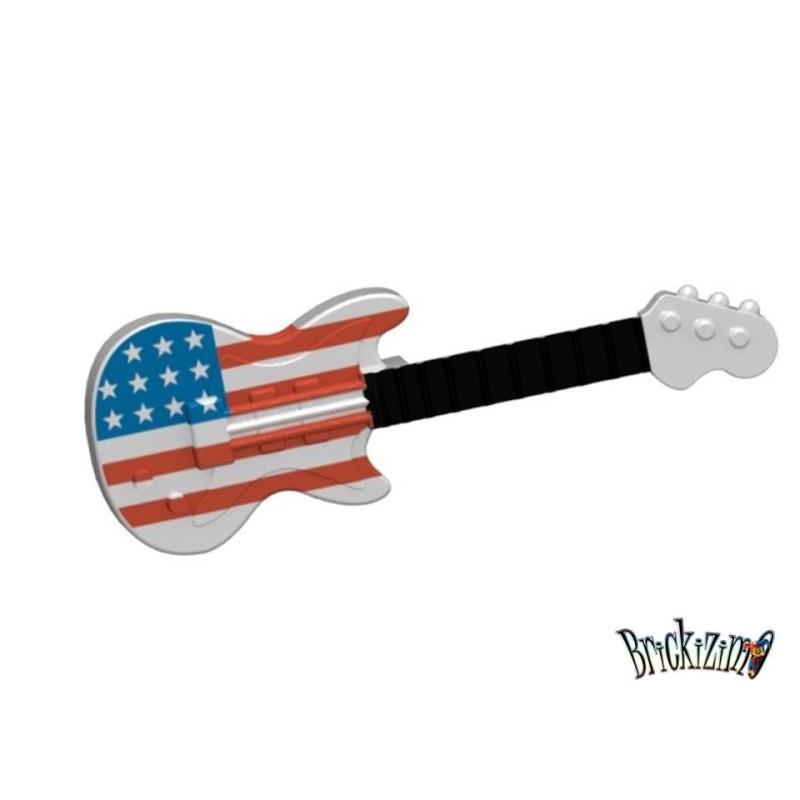 Elektrische Gitarre - amerikanische Flagge